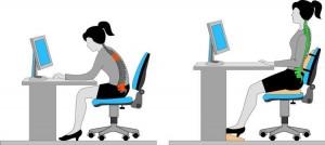 Posture devant un écran